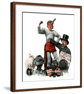 """""""Circus Strongman"""", June 3,1916 by Norman Rockwell"""