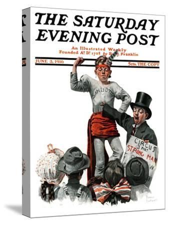 """Circus Strongman"" Saturday Evening Post Cover, June 3,1916"