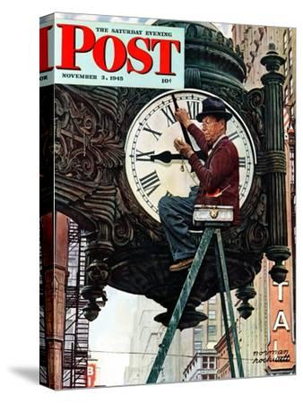 """Clock Repairman"" Saturday Evening Post Cover, November 3,1945"