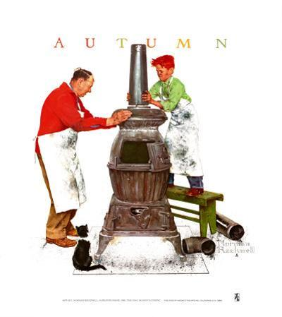 Coal Season's Coming by Norman Rockwell