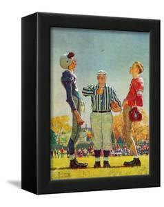 """""""Coin Toss"""", October 21,1950 by Norman Rockwell"""