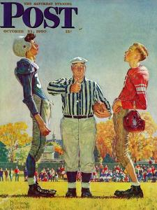 """Coin Toss"" Saturday Evening Post Cover, October 21,1950 by Norman Rockwell"
