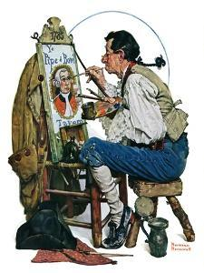 """Colonial Sign Painter"", February 6,1926 by Norman Rockwell"