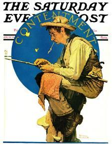"""Contentment"" Saturday Evening Post Cover, August 28,1926 by Norman Rockwell"