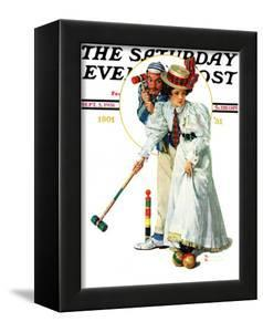 """""""Croquet"""" or """"Wicket Thoughts"""" Saturday Evening Post Cover, September 5,1931 by Norman Rockwell"""