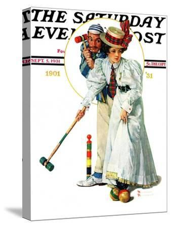 """""""Croquet"""" or """"Wicket Thoughts"""" Saturday Evening Post Cover, September 5,1931"""