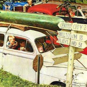 Crossroads on Sunday by Norman Rockwell