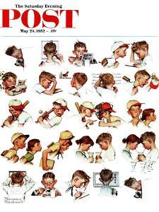 """Day in the Life of a Boy"" Saturday Evening Post Cover, May 24,1952 by Norman Rockwell"