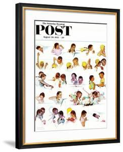 """""""Day in the Life of a Girl"""" Saturday Evening Post Cover, August 30,1952 by Norman Rockwell"""