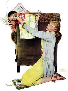 """Decorator"", March 30,1940 by Norman Rockwell"