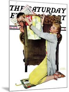 """""""Decorator"""" Saturday Evening Post Cover, March 30,1940 by Norman Rockwell"""