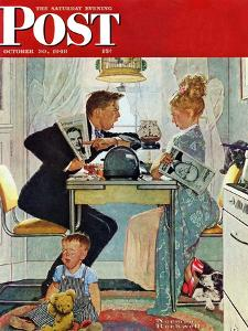 """""""Dewey v. Truman"""" Saturday Evening Post Cover, October 30,1948 by Norman Rockwell"""