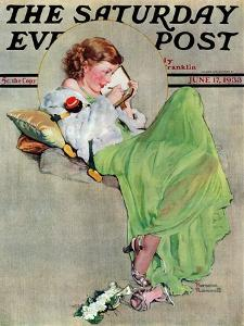 """""""Diary"""" Saturday Evening Post Cover, June 17,1933 by Norman Rockwell"""