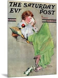 """Diary"" Saturday Evening Post Cover, June 17,1933 by Norman Rockwell"