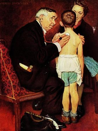 """""""Doc Melhorn and the Pearly Gates"""", December 24,1938 by Norman Rockwell"""