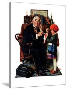 """""""Doctor and the Doll"""", March 9,1929 by Norman Rockwell"""