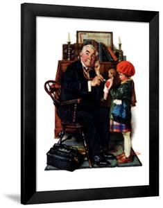"""Doctor and the Doll"", March 9,1929 by Norman Rockwell"