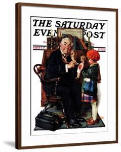 """""""Doctor and the Doll"""" Saturday Evening Post Cover, March 9,1929 by Norman Rockwell"""