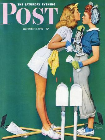 """""""Double Trouble for Willie Gillis"""" Saturday Evening Post Cover, September 5,1942 by Norman Rockwell"""