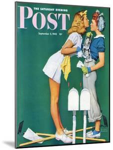 """Double Trouble for Willie Gillis"" Saturday Evening Post Cover, September 5,1942 by Norman Rockwell"