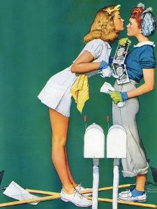 """""""Double Trouble for Willie Gillis"""", September 5,1942 by Norman Rockwell"""