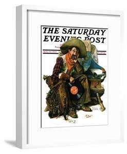 """""""Dreams of Long Ago"""" Saturday Evening Post Cover, August 13,1927 by Norman Rockwell"""
