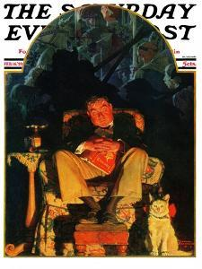 """""""Dreams"""" Saturday Evening Post Cover, February 16,1929 by Norman Rockwell"""