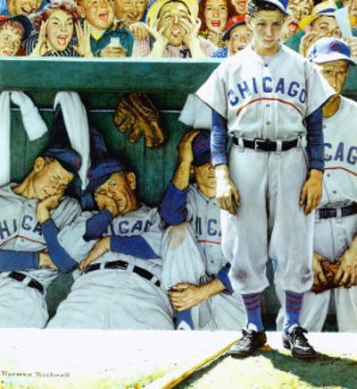 Dugout by Norman Rockwell