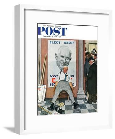"""""""Elect Casey"""" or """"Defeated Candidate"""" Saturday Evening Post Cover, November 8,1958"""