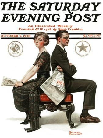 """Election Debate"" Saturday Evening Post Cover, October 9,1920"