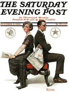 """Election Debate"" Saturday Evening Post Cover, October 9,1920 by Norman Rockwell"