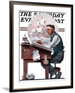 """""""Escape to Adventure"""" Saturday Evening Post Cover, June 7,1924 by Norman Rockwell"""