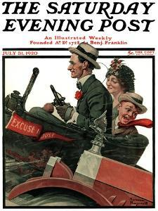 """Excuse My Dust"" Saturday Evening Post Cover, July 31,1920 by Norman Rockwell"