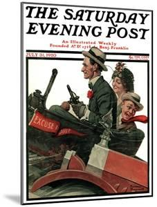 """""""Excuse My Dust"""" Saturday Evening Post Cover, July 31,1920 by Norman Rockwell"""