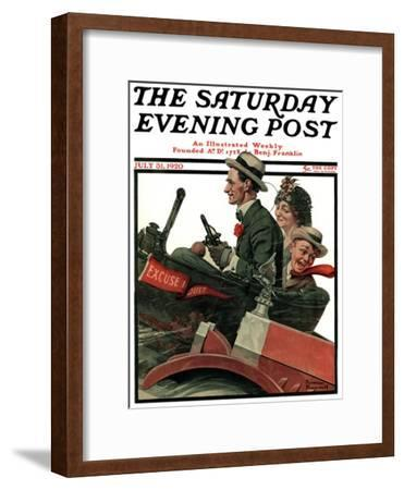 """""""Excuse My Dust"""" Saturday Evening Post Cover, July 31,1920"""