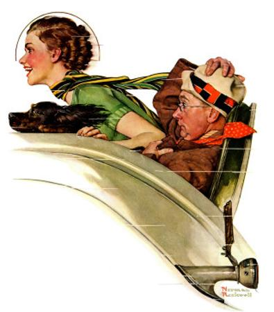"""""""Exhilaration"""", July 13,1935 by Norman Rockwell"""