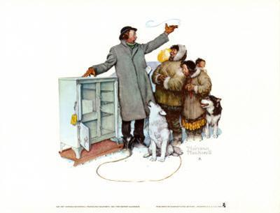 Expert Salesman by Norman Rockwell