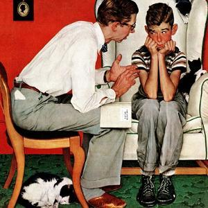 """""""Facts of Life"""", July 14,1951 by Norman Rockwell"""