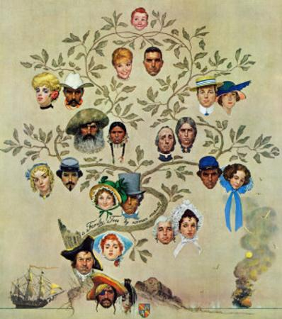 """""""Family Tree"""", October 24,1959 by Norman Rockwell"""