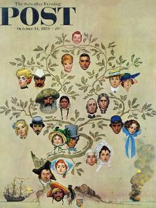 """Family Tree"" Saturday Evening Post Cover, October 24,1959 by Norman Rockwell"
