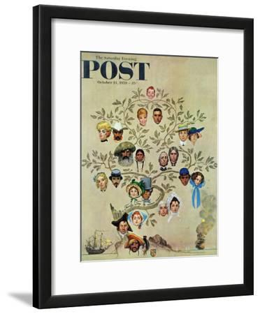 """""""Family Tree"""" Saturday Evening Post Cover, October 24,1959"""