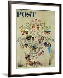 """""""Family Tree"""" Saturday Evening Post Cover, October 24,1959 by Norman Rockwell"""