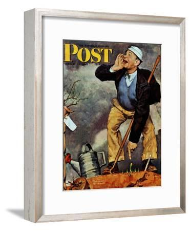 """First Flower"" or ""First Crocus"" Saturday Evening Post Cover, March 22,1947"