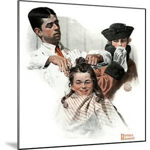 """""""First Haircut"""", August 10,1918 by Norman Rockwell"""