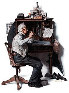 """""""Flutist"""" or """"Spring Song"""", May 16,1925 by Norman Rockwell"""