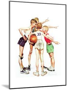 Four Sporting Boys: Basketball by Norman Rockwell
