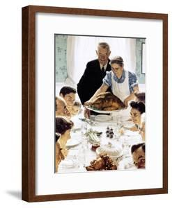"""""""Freedom From Want"""", March 6,1943 by Norman Rockwell"""