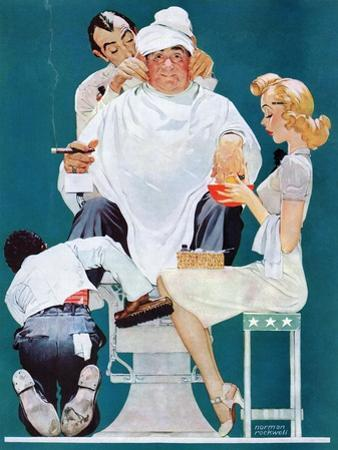 """Full Treatment"", May 18,1940 by Norman Rockwell"