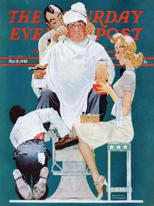 """""""Full Treatment"""" Saturday Evening Post Cover, May 18,1940 by Norman Rockwell"""