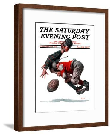 """Fumble"" or ""Tackled"" Saturday Evening Post Cover, November 21,1925"